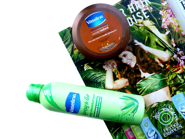 beauty, body, moisturiser, moisturizer, Vaseline, Spray and Go, Aloe vera, review, Cocoa Radiant Body Butter, favourite, dry skin, pamper, 2016, youwishyou, Catherine Delves