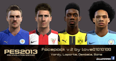 PES 2013 Facepack v.2 by love01010100