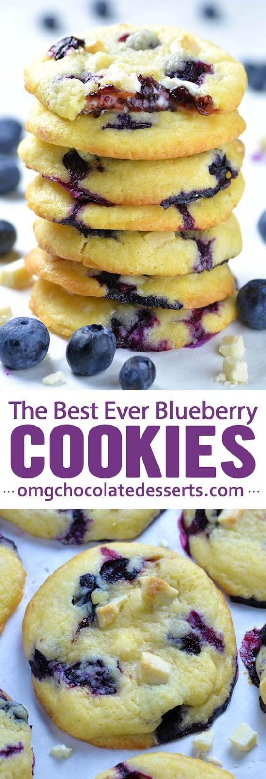 Best Ever Blueberry Cookies #bestever #blueberry #cookies #cookierecipes