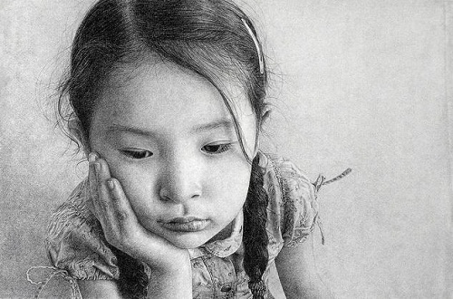 Marcos Rey hyper-realistic pencil drawing