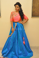 Nithya Shetty in Orange Choli at Kalamandir Foundation 7th anniversary Celebrations ~  Actress Galleries 008.JPG