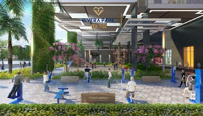 Khuôn viên dự án Rivera Park Vũ Trọng Phụng