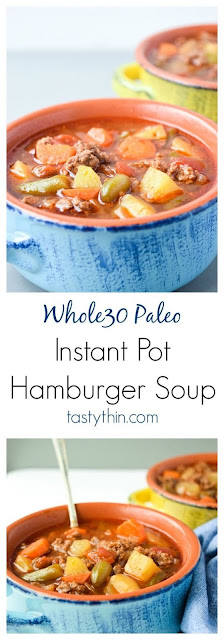 Instant Pot Hamburger Soup (Whole30 Paleo)