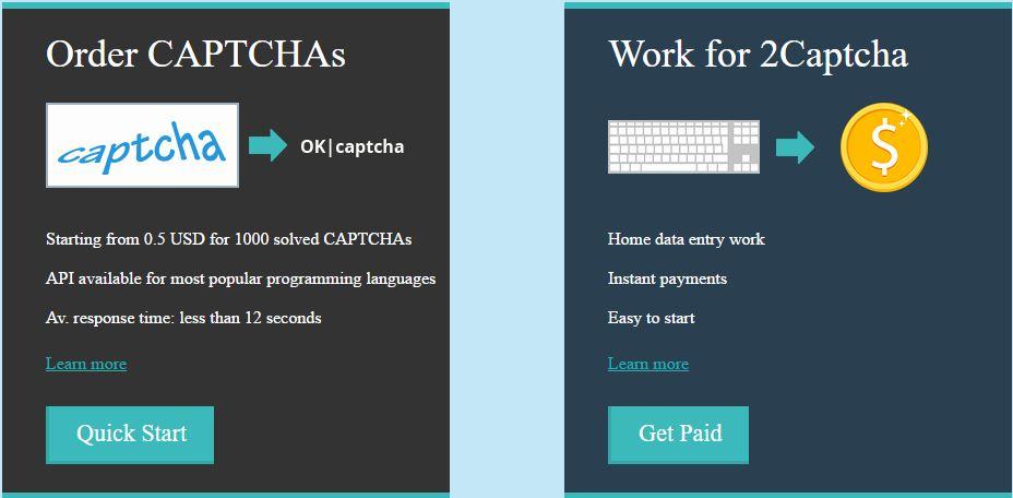 أقوى 10 مواقع ربح المال من الكابتشا 2018 Captcha Entry Sites
