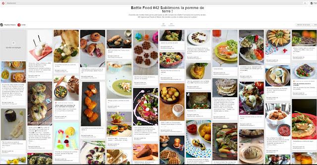 Tableau récap des 53 recettes autour de la pomme de terre