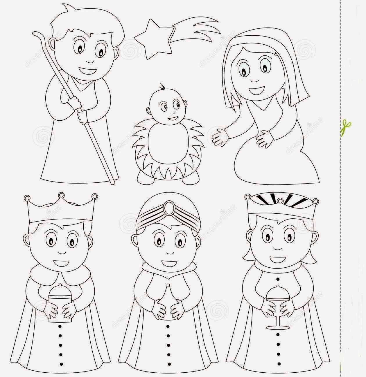 Dibujo Del Nacimiento De Jesus Para Colorear