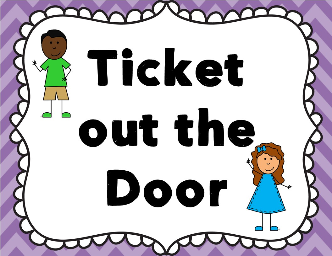 exit ticket clipart - photo #14