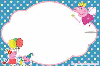 Fairy Peppa Pig: Free Printable Mini Kit.