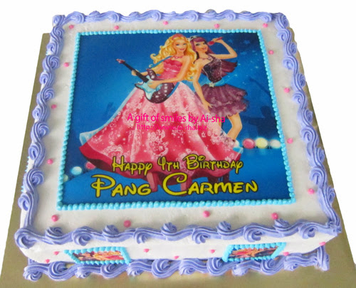 Birthday Cake Edible Image Barbie Ai-sha Puchong Jaya