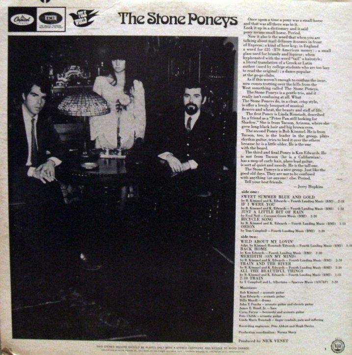 Vinyl Exam The Stone Poneys The Stone Poneys
