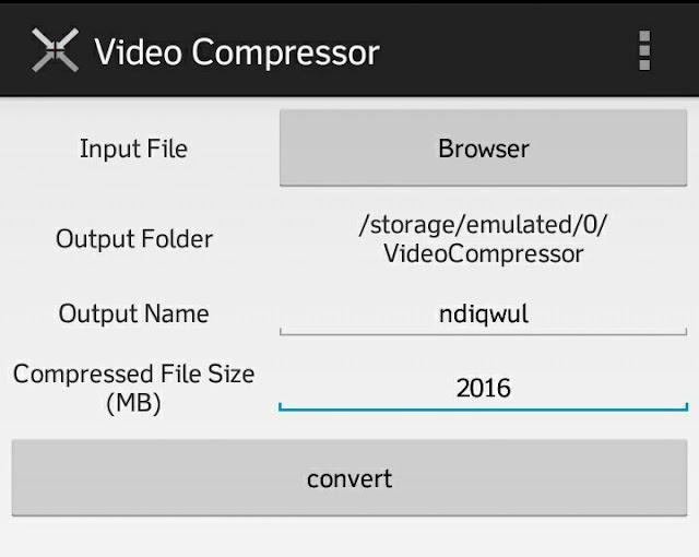 cara mudah mengompres video