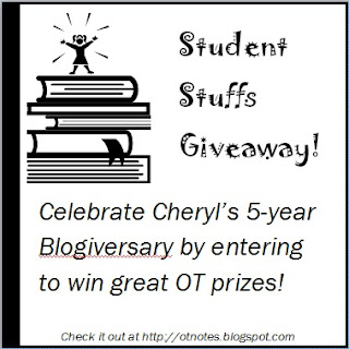 Occupational Therapy Notes: Student Stuffs Giveaway!