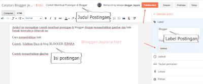 cara membuat postingan di blog blogger