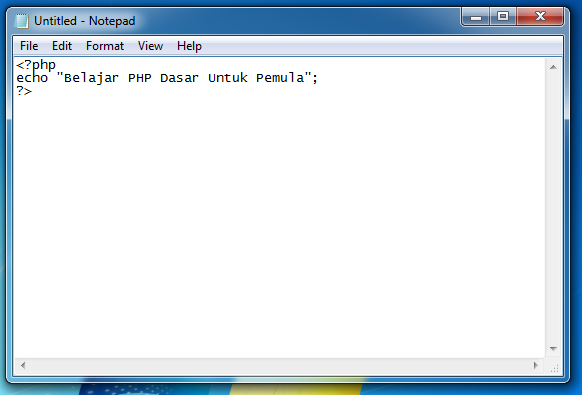 Tutorial PHP Dasar