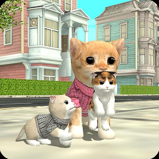 تحميل لعبه Cat Sim Online: Play with Cats v4.0  مهكره وجاهزه ( اعتني بحيوانك الأليف )