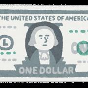 1ドル札のイラスト(お金・紙幣)
