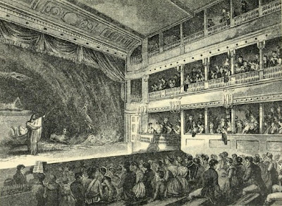 Interior of the Little Theatre, Haymarket,  from the Complete Works of Henry Fielding (1902)