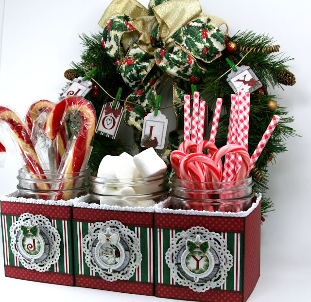 Christmas Party Hot Cocoa Fixins Station Party Decor Ginny Nemchak using BoBunny Tis The Season