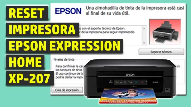 Reset impresora EPSON Expression Home XP-207