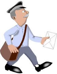 carteiro entregando carta