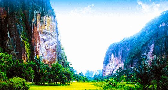 Tebing Terindah di lembah harau payakumbuh