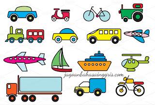 beserta Contoh Kalimat dan Soal Latihannya Materi 'Transportation' beserta Contoh Kalimat dan Soal Latihannya