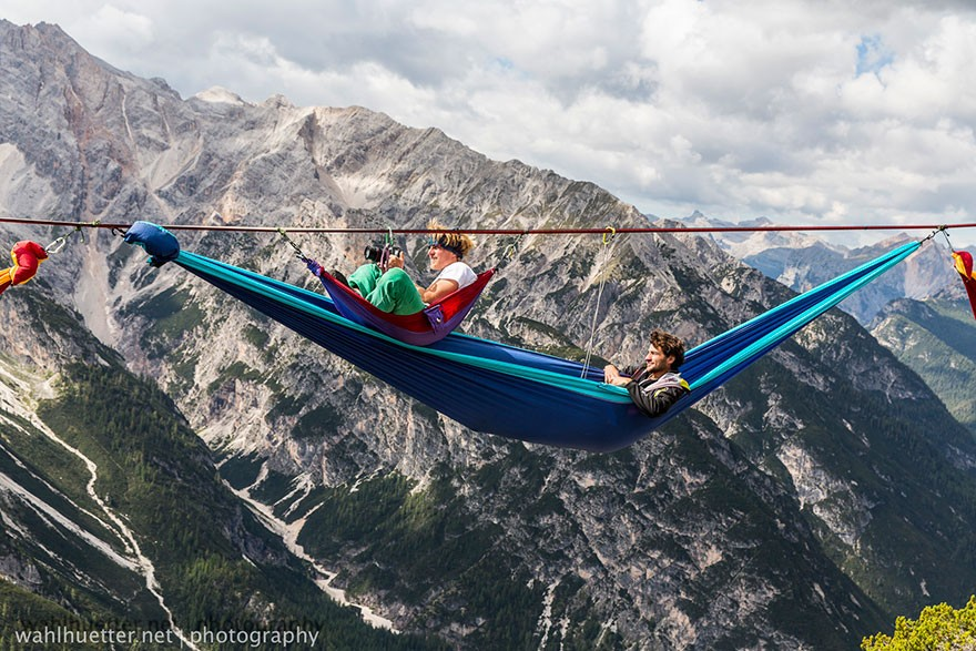 Crazy International Festival Where You Sleep in Hammocks Hundreds of Feet Above the Italian Alps