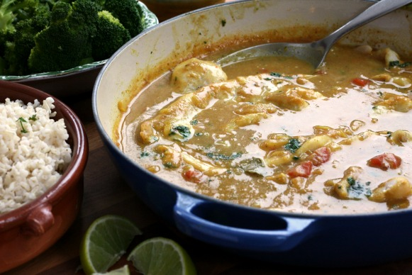 Easy Fish Curry: The fish is poached in a flavourful curry broth so you end up with moist fillets in a lovely sauce.