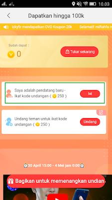 cara mendapatkan coins dari Aplikasi nonolive android