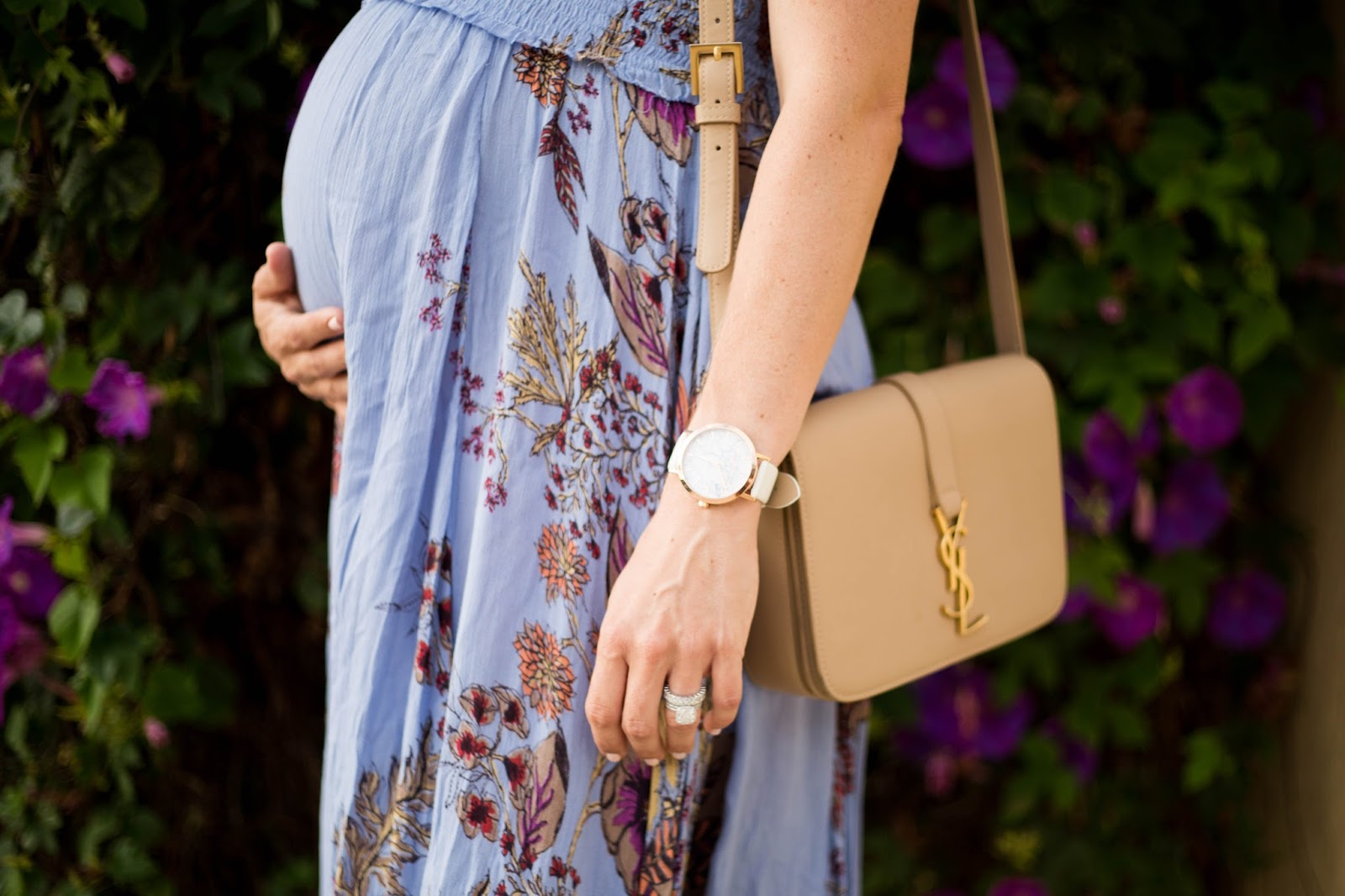 bump and designer bag