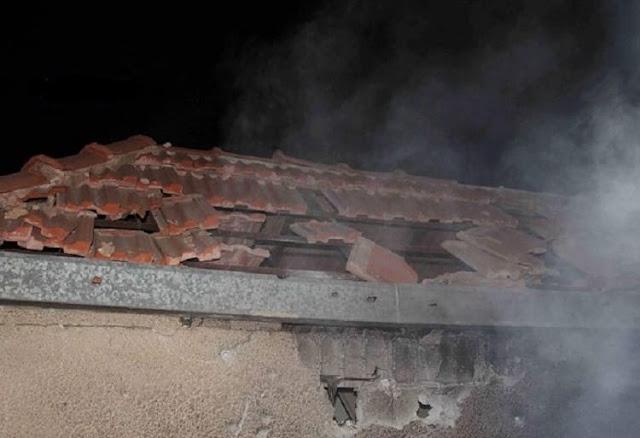 أضرار مادية جراء اعتداء ارهابي بقذيفتي هاون على بلدتي عرى والقريا بريف السويداء(صور)