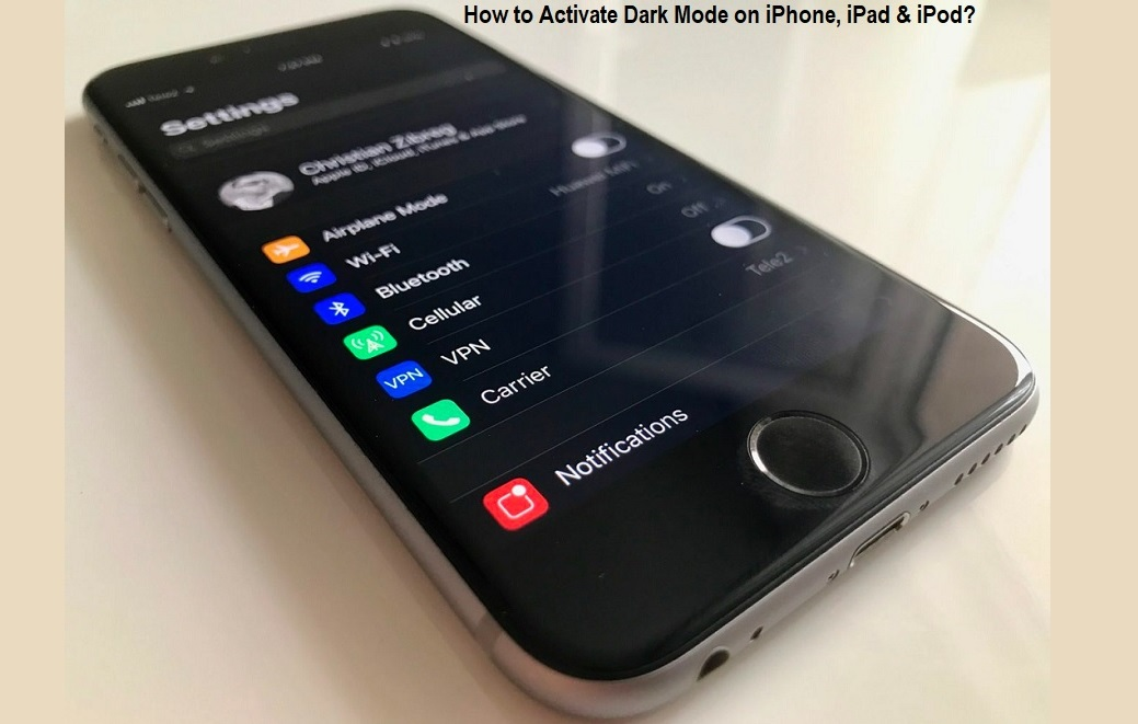 Activate Dark Mode on iPhone, iPad & iPod