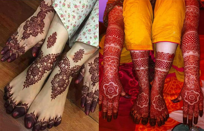 Foot Mehndi Designs Simple