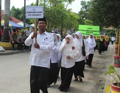 Semarak MTQ, Kemenag Tanjungbalai Pawai Ta'aruf