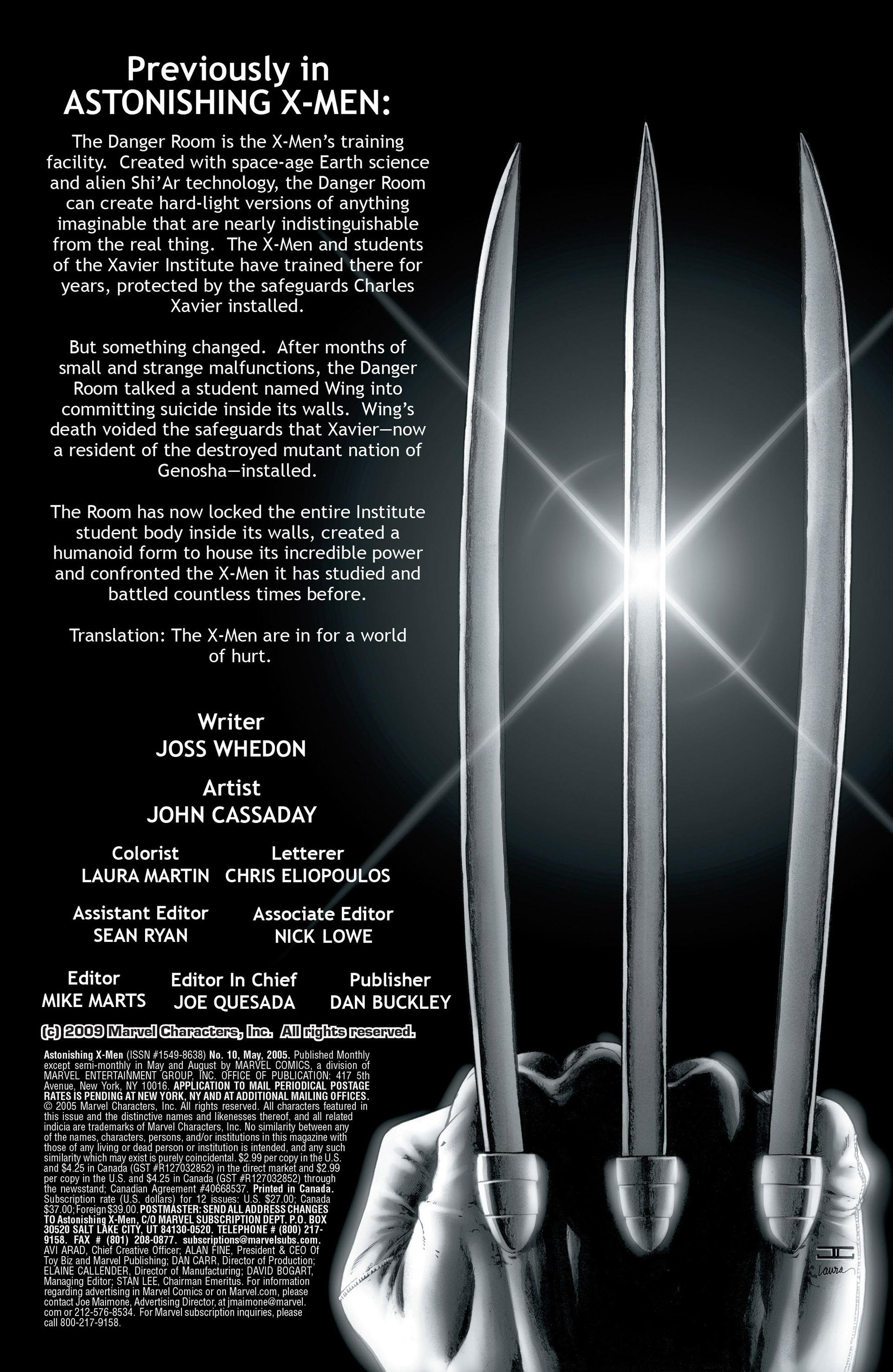 Read online Astonishing X-Men (2004) comic -  Issue #10 - 2