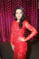 Catherine Tresa in red transparent gown at Zee Telugu Apsara Awards 2017 09.JPG
