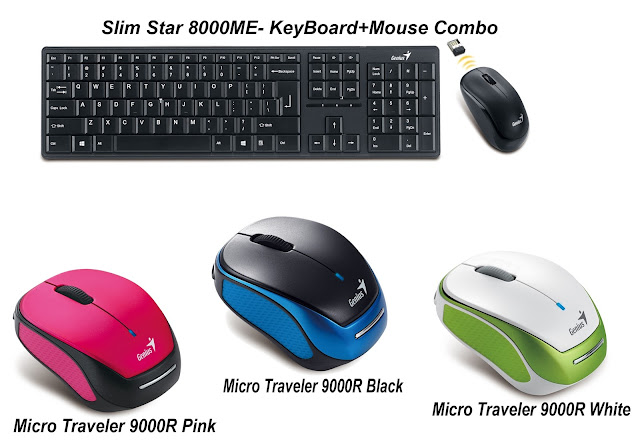 Genius launches new range of wireless keyboard and mice