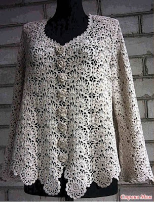 crochet cardigan with motive diagram