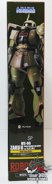 SIDE MS MS-06 ZAKU II Mass production model ver. ANIME Real type color ~ Tamashii World Tour ~ - Tamashii Nations