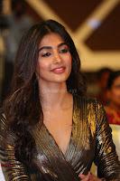 Pooja Hegde looks glamarous in deep neck sleevless short tight golden gown at Duvvada Jagannadham thank you meet function 131.JPG