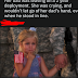 Photo of American soldier's daughter holding his hand and crying is FAKE