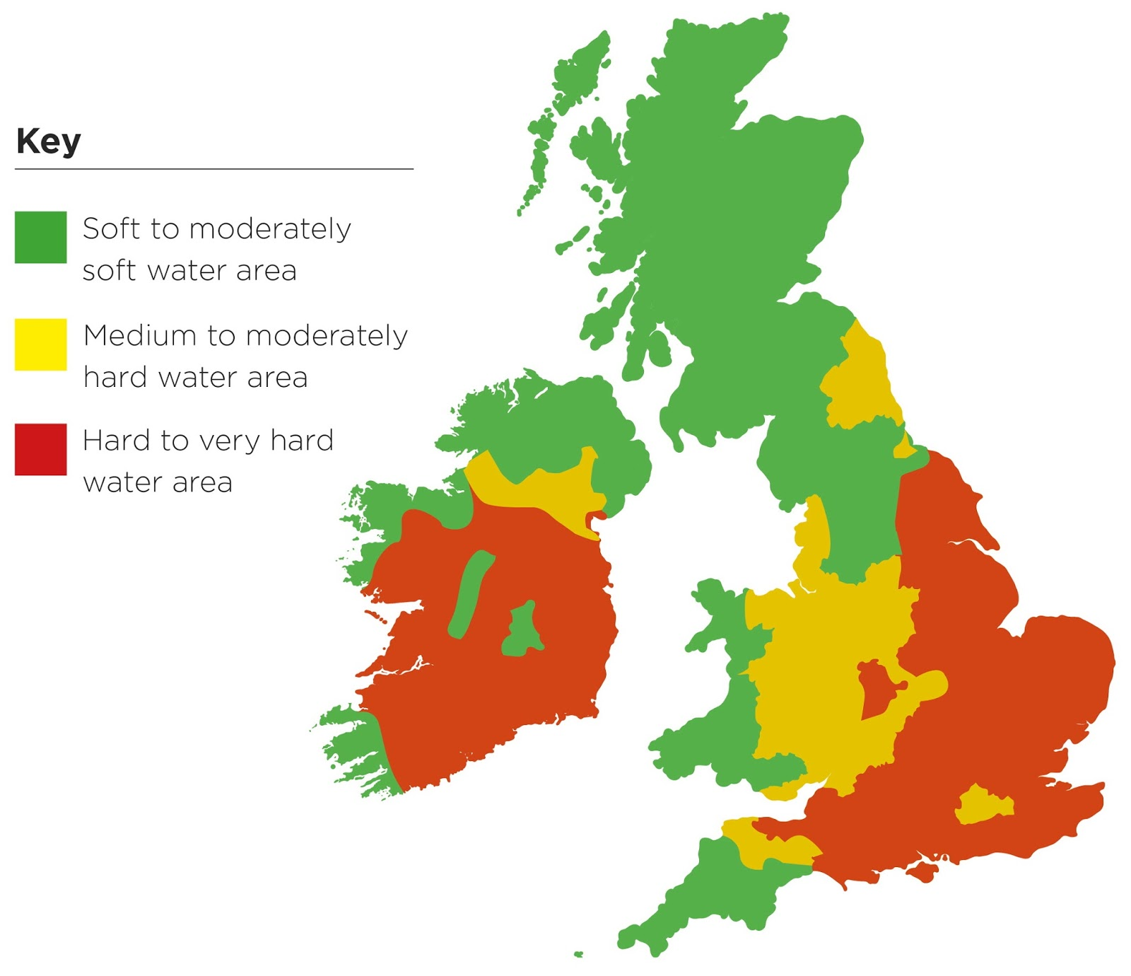 Water hardness in the UK & Ireland