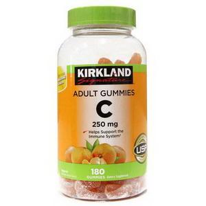 Kẹo dẻo bổ sung vitamin C Kirkland Adult Gummies 250mg hàng Mỹ xách tay