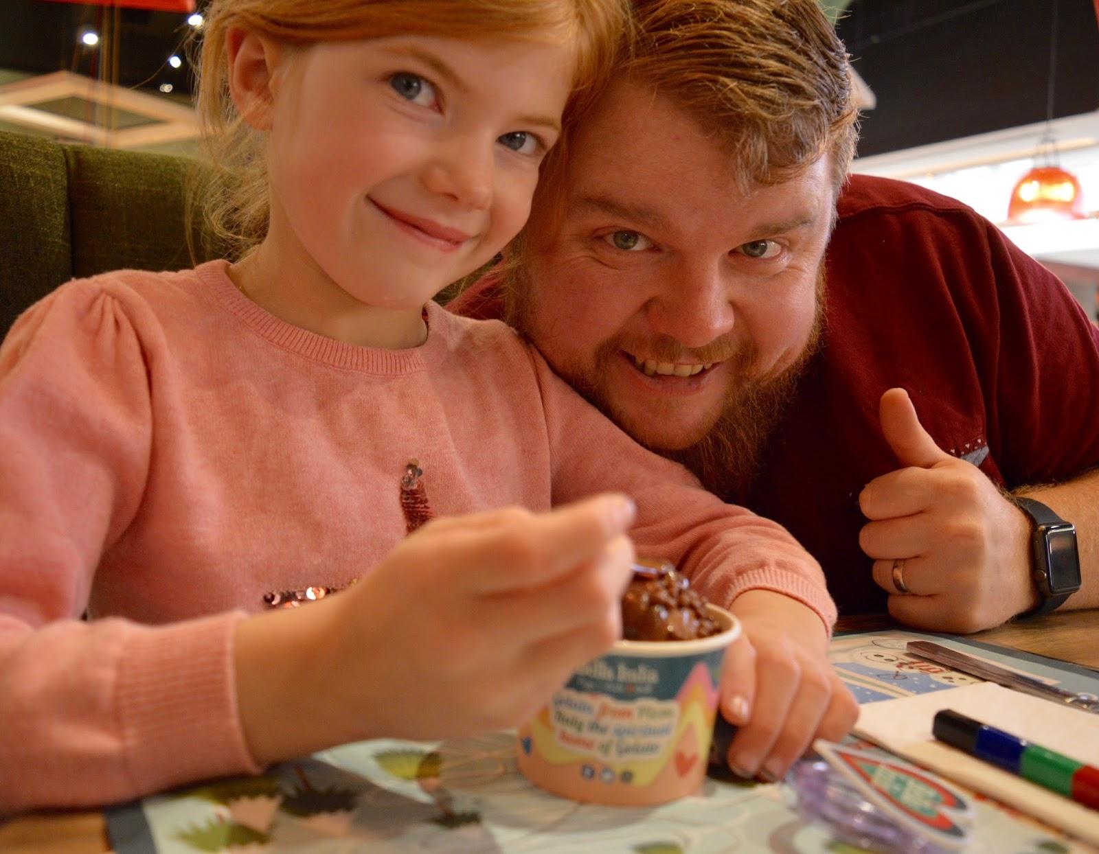 Bella Italia at intu Eldon Square Newcastle | Children's Menu Review - kids gelato