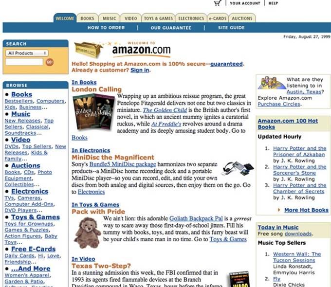 amazon website 1999