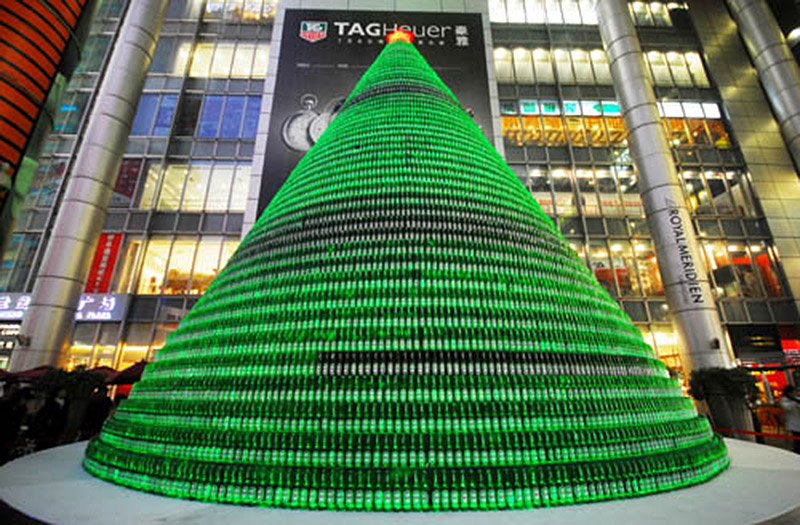 The Heineken Beer Bottle Tree