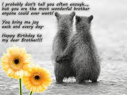 Happy Birthday wishes for brother: i probably don't tell you often enough