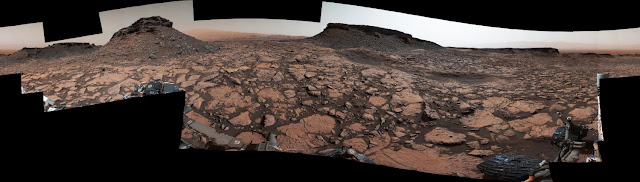 Rover's panorama taken amid Murray Buttes on Mars