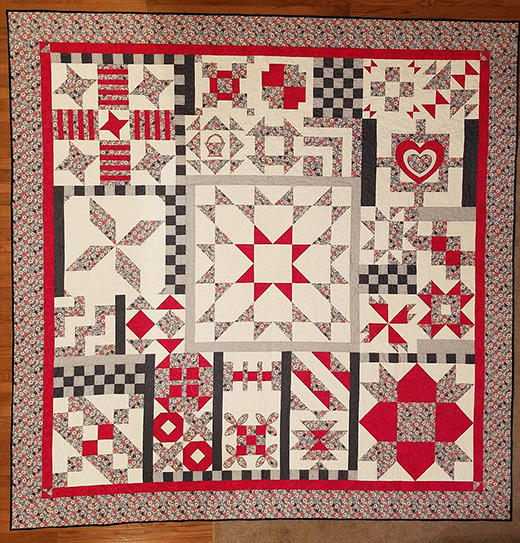 182 Day Solstice Quilt by Pamela Black Clark, The Patterns designed by Pat Sloan