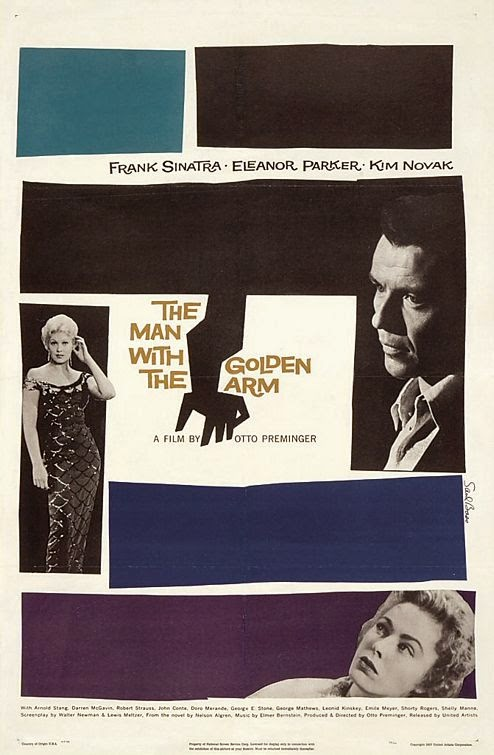 The Man With the Golden Arm poster by Saul Bass